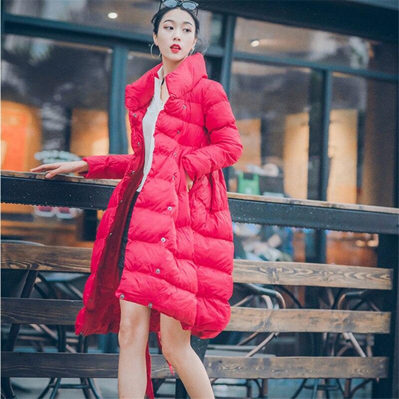 eb3331d42 Mujer Coreanas white Invierno Cordones Coats Las Mujeres Nueva Collar Coats  De Chaquetas Vestido 2019 Black ...