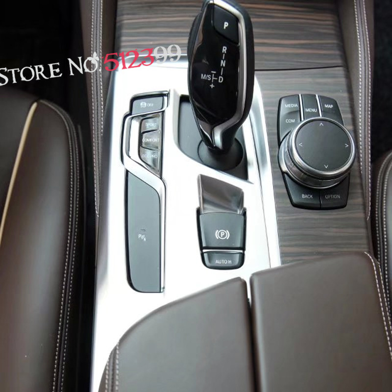 For Left Hand Side Drive !1 piece ABS Matte Car Interior Gear Shift Box Panel Cover Trim FOR BMW 5 SERIES G30 2017 2018