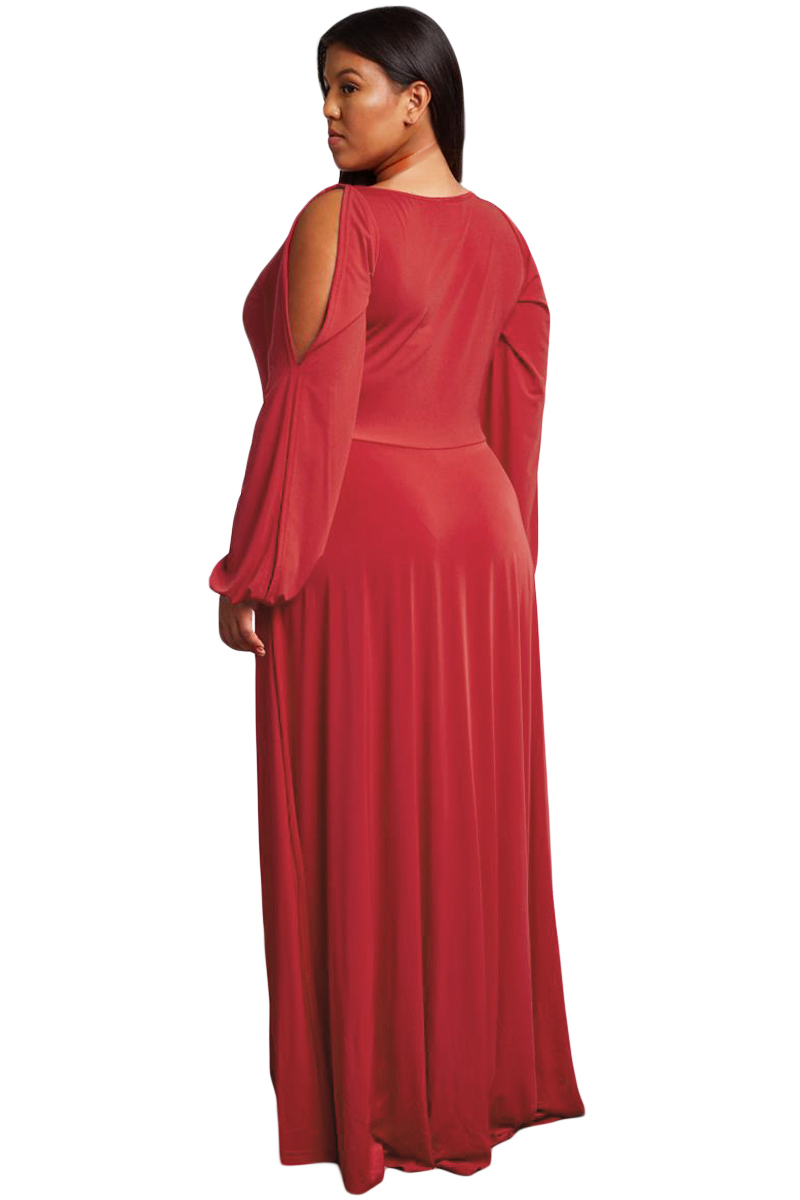 Red-Split-Long-Sleeve-Plus-Size-Maxi-Dress-LC610516-3-2