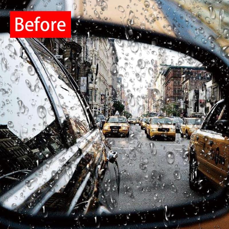 2Pcs/Pair Car Sticker Anti Fog Car Mirror Window Clear Film Anti Fog Car Rear View Mirror Protective Film Waterproof Rainproof