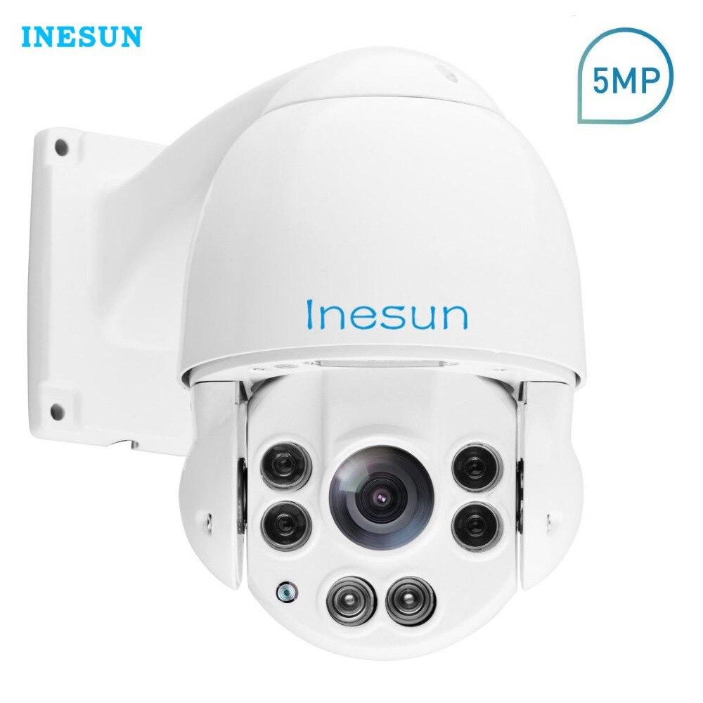 Inesun H.265 Outdoor PTZ IP Security Camera 5MP Super HD 2592x1944 Pan Tilt 10X Optical Zoom Speed Dome IR Night Vision Cam mini ptz ip camera 1080p hd outdoor waterproof speed dome pan tilt 10x zoom ir night vision 50m 2 megapixel network cctv ip cam
