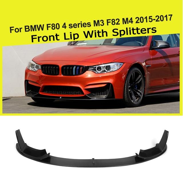 Carbon Fiber FRP Front Bumper Lip Splitters Spoiler Guard