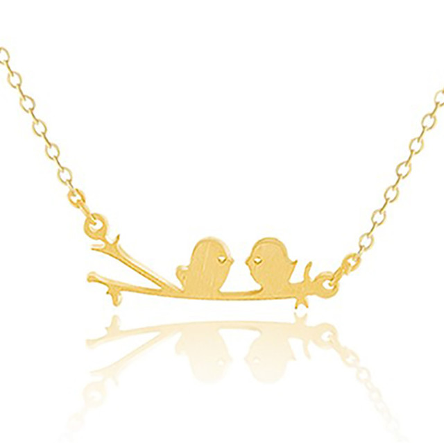Gorgeous tale stainless steel sister pendant necklace love birds gorgeous tale stainless steel sister pendant necklace love birds on a branch necklace women bird jewellery mozeypictures Image collections