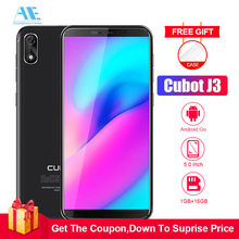 Cubot J3 5.0 Inch 18:9 Full Screen Cell phone MT6580 Quad core Android Go 1G RAM 16G ROM Dual SIM Card Face ID 3G Mobile Phone(China)