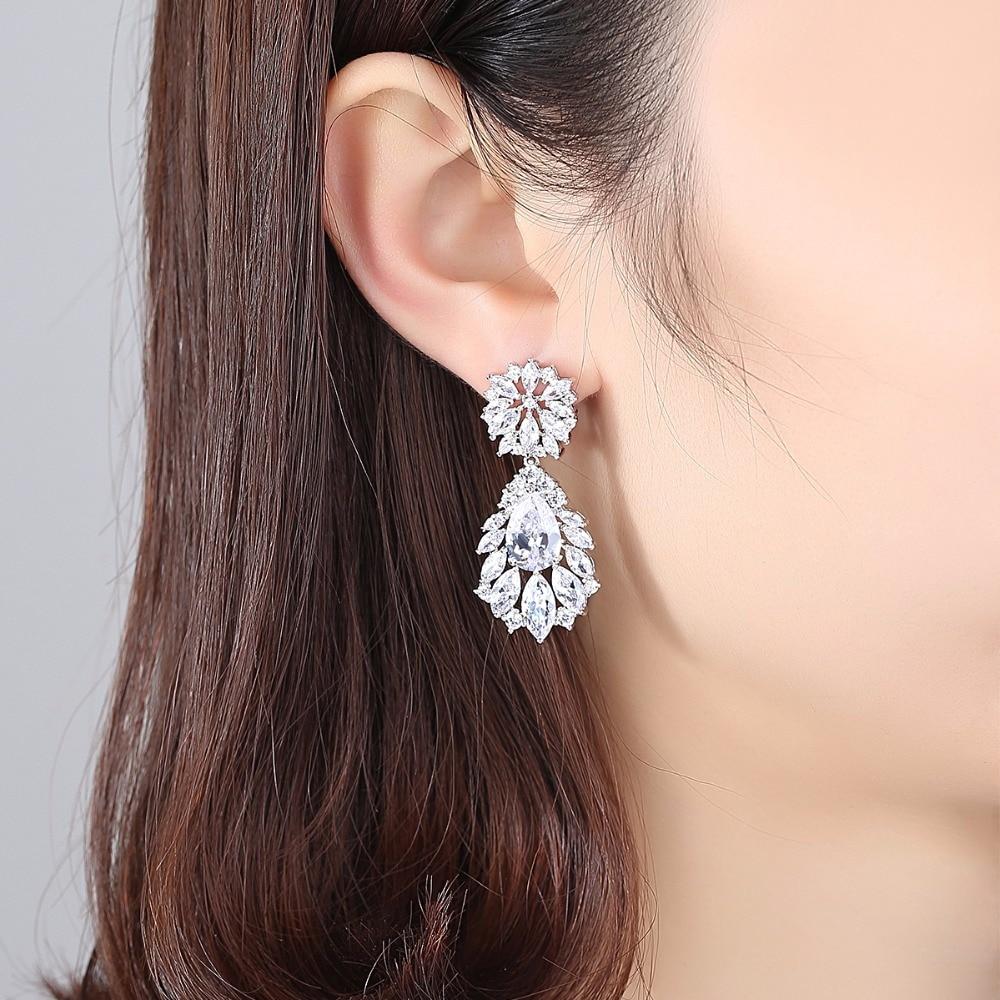 Luoteemi Grosir 2016 Perempuan Anting Mode Mulia Pernikahan Jewelry - Perhiasan fashion - Foto 2