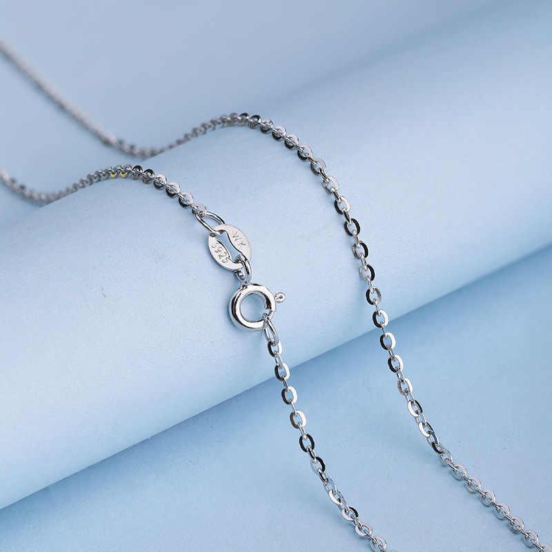 Clássico corrente básica 100% 925 prata esterlina lagosta fecho ajustável colar senhora 40 cm/46 cm corrente moda jóias