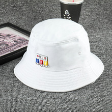 2019 Unisex Panama Hip Hop Fisherman Hat Letter Embroidery Hats Summer Casual Beach Cotton Outdoor for Men and Women