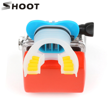 SHOOT Action Camera Surf Mouth Mount for GoPro Hero 7 5 6 4 Black Silver Session Xiaomi 4K SJCAM SJ7 H9 Go Pro Surfing Accessory