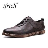 2017 New Trend Dress Shoes Men Lace Up Formal Shoes Men Black Khaki Leather Men Footwear