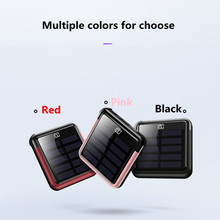 Fast Charging Solar Mobile Power 5000mAh Mini Power Supply and Cable Portable External Battery Solar Mini Mobile Power 2.0A