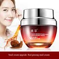 50g Reduce wrinkles Anti-aging Water embellish White tender Repair Radix ginseng rubra snail moisturizing cream