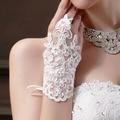 CharmDemon Hot Sale Party Dress Fingerless Rhinestone Lace Satin Gloves st7
