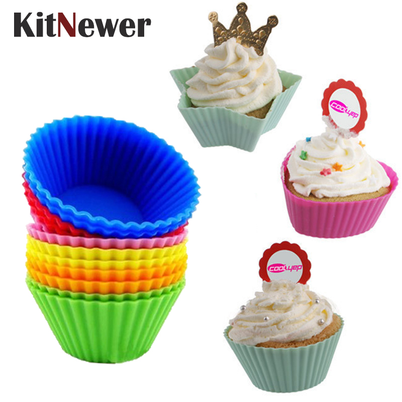 6pcs Silicone Muffin Case Cute Rectangle Liner Cupcake Chocolate Cup Baking Mold
