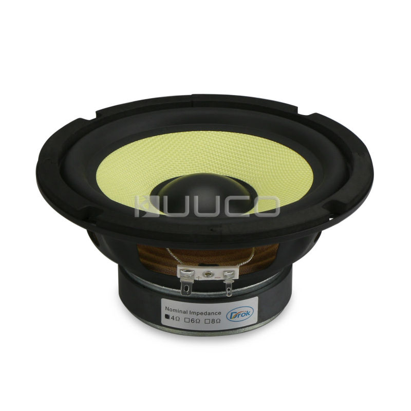 6.5 inch HI-FI Stereo Woofer Loudspeaker 4 ohms Mid Bass Woofer Speaker 35W Bass Audio Speaker for DIY Speakers audio loudspeaker 40w woofer speaker double magnetic speaker 4 5 inch 4 ohms subwoofer bass speaker for diy speakers
