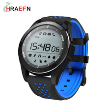 Hraefn Smart Watch NO.1 F3 Altitude Meter IP68 Waterproof Smartwatch Pedometer Fitness Tracker Wristwatch for IOS Android Phone