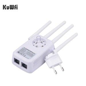 Image 4 - 1200Mbps sans fil Wifi Booster répéteur Extender routeur Point daccès 2.4G/5G double bande avec 4 antennes externes Support WPS