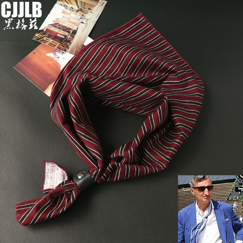 Scarves   Hip-hop Men's Cotton Square   Scarf   Wrapped Neck Head Wrist Multi-functional All Match   Scarf   Male Fashion Soft   Wrap   60*60