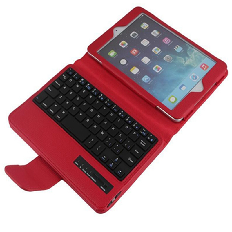 2 in 1 Removable Wireless Bluetooth Keyboard For Apple iPad Mini 4 7.9 inch pu Leather Stand Case Cover