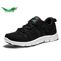 LANTI KAST Men Running Shoes Light Weight Breathable Lace Up Sport Shoes For Men Air Mesh