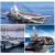 Alegría revistas sluban m38-b0388 buque de guerra de portaaviones building block ladrillo flattop navegación niños juguetes regalos de navidad