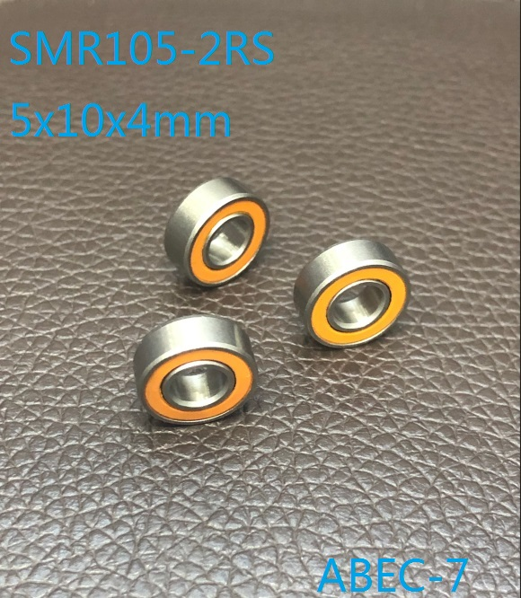 6pcs/10pcs ABEC-7 SMR105-2RS SMR105 2OS CB LD 5x10x4mm Stainless Steel hybrid si3n4 ceramic bearing fishing reel <font><b>5*10*4</b></font> MR105 RS image