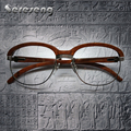 2017 Retro Óculos De Madeira Enquadrar Homens óculos Frames Homens para Leitura Óculos Mulheres Óculos Da Moda Óculos de Armação Oculos Carter