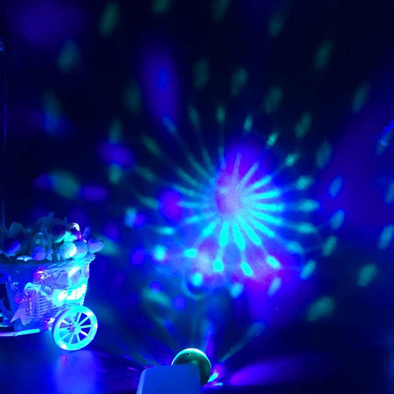USB Mini Discoteca Luci del Palcoscenico Led Xmas Party DJ Karaoke Auto Della Decorazione Della Lampada del Cellulare di Controllo di Musica di Cristallo Sfera Magica Colorata luce