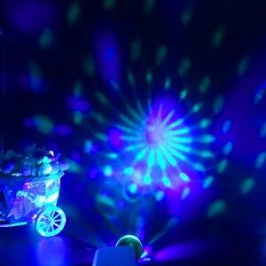 USB мини дискотечный сценический светильник s Led Рождественские вечерние DJ Караоке автомобильный Декор лампа для мобильного телефона управление музыкой Хрустальный волшебный шар красочный светильник