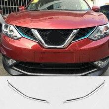 Fit Für Nissan Qashqai 2014 2015 2016 2017 Chrome Front Mesh Grille Grill Kopf Licht Abdeckung Trim Insert Styling Form garnieren