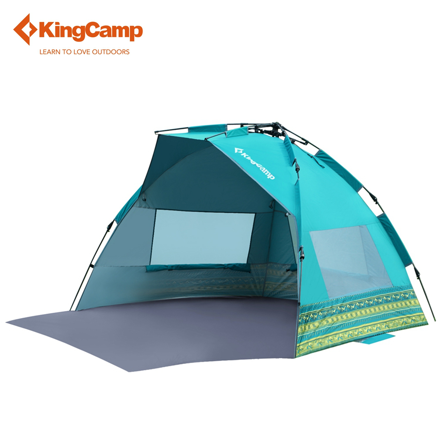 KingCamp Fantasy UPF50+ Easy-up 2-Person Beach Tent Sun Shelter Outdoor Camping Tents for Fishing Hiking Trekking high quality outdoor 2 person camping tent double layer aluminum rod ultralight tent with snow skirt oneroad windsnow 2 plus