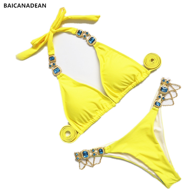 c84d3c7d39 Mouse over to zoom in. Diamond Swimsuit Crystal Bikini Set Brazilian ...