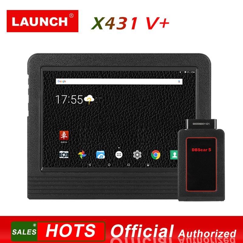 Lançamento X431 V + Ferramenta de Diagnóstico Do Sistema Tablet Completa Digitalização pad 2 Anos Atualização Online DBScarII Bluetooth