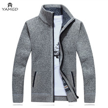 Men's Thickening of qiu dong add wool sweater 2018 the man Business leisure premium brands stand warm collar slender wool coat