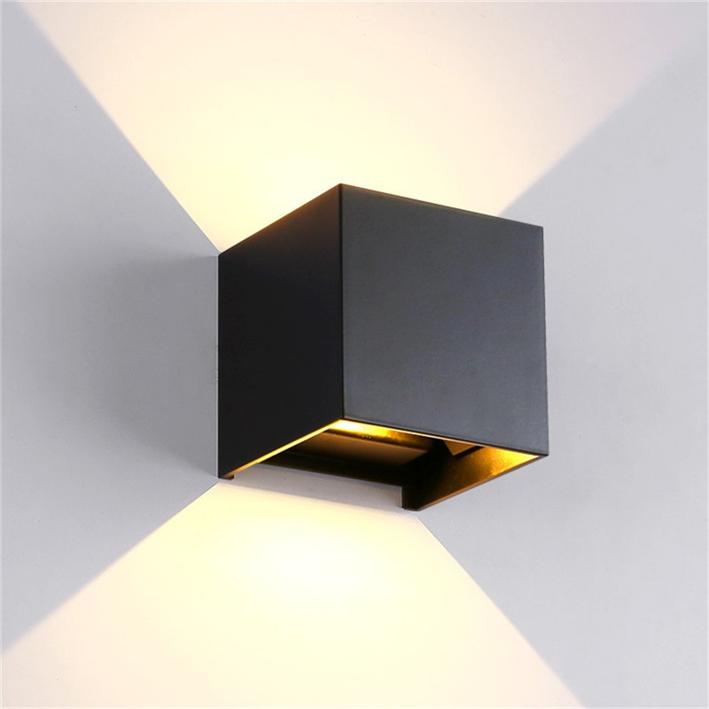 Wall Lamps Aluminm Led wall lamp square led spot light Battery Operated Lamp For bedroom Hallway dinning room Decoration
