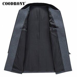 Image 4 - COODRONY Men Coat Winter Thick Warm Wool Coat Men Clothes 2019 Slim Fit Coat Mandarin Collar Jacket Mens Overcoat Mens Coats C03
