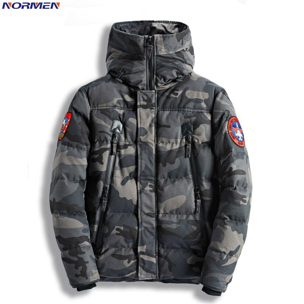 NOR для мужчин модные камуфляжные парки длинные повседневное зимняя куртка Военная Униформа Тактический Пальто Мягкий уличная