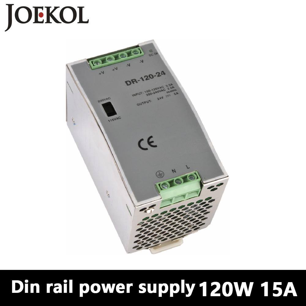 DR-120 Din Rail Power Supply 120W 15V 8A,Switching Power Supply AC 110v/220v Transformer To DC 15v,ac dc converter dr 240 din rail power supply 240w 24v 10a switching power supply ac 110v 220v transformer to dc 24v ac dc converter