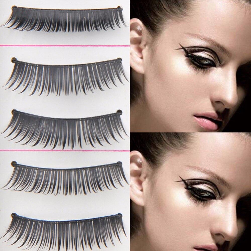 10Pairs Natural Long Eye Makeup Fake Eyelashes Thick Black False Eyelashes Charming Eye  ...