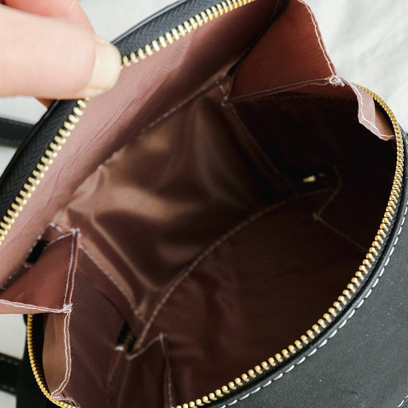 New Women Round Handbag PU Leather Handbags Fashion Metal Dots Small Shoulder Bags Circular Scrub Ladies Crossbody Bag in Top Handle Bags from Luggage Bags