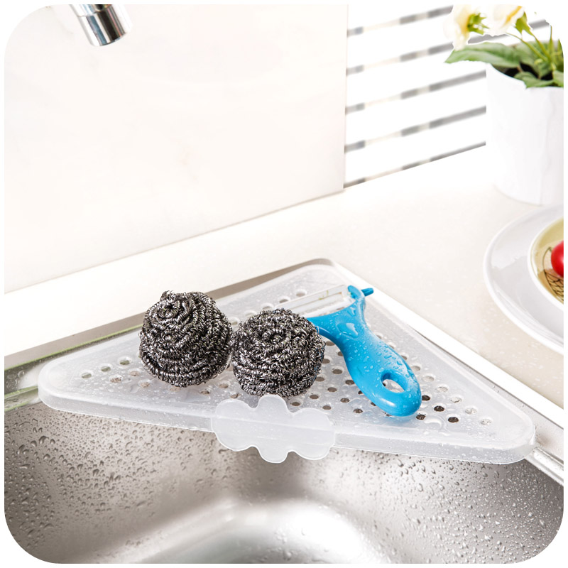 Useful Fashion Household Triangular Kitchen Sink Corner Storage Rack Sponge Holder Tray For Kitchen Tools Free Shipping Sponge Holder Storage Rackcorner Storage Aliexpress