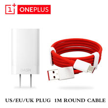 Original Oneplus 6t 5 3 t smartphone US EU UK Plug Dash Fast Charger Adapter Charge Cable 1M Red Round Quick Charging Line