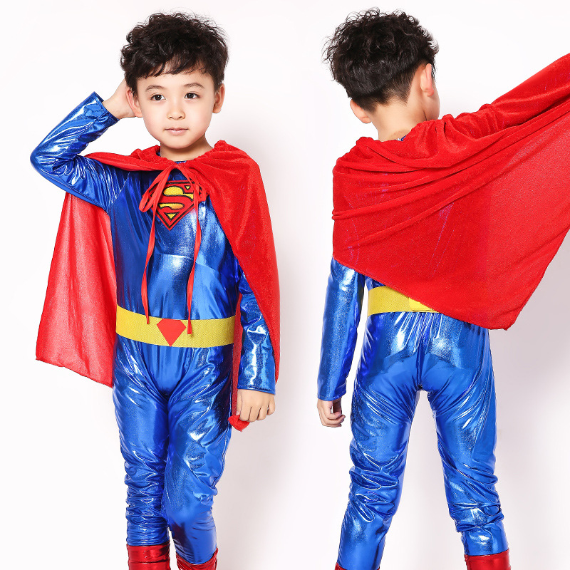 kids 110 170cm superman costume children boy girl halloween costume the spiderman party clothing child super men hero costumes in anime costumes from