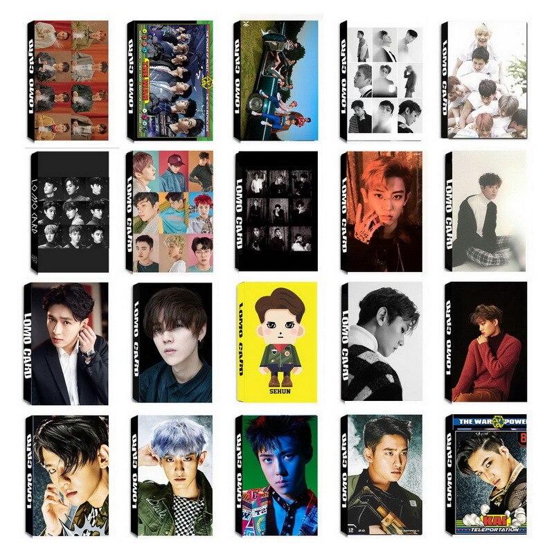 KPOP EXO Album Self Made Paper Lomo Card Photo Cards ...