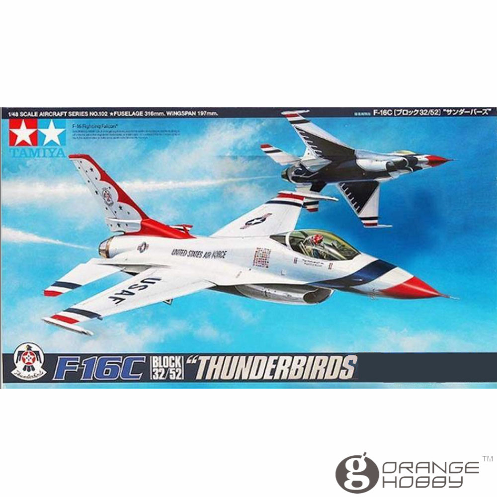OHS Tamiya 61102 1/48 F16C Block 32/52 Thunderbirds Assembly Airforce Model Building Kits G цена