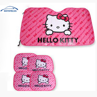 5pcs Set Car Covers Hello Kitty Car Window Sunshade Front Side Auto Hello Kitty Car Set