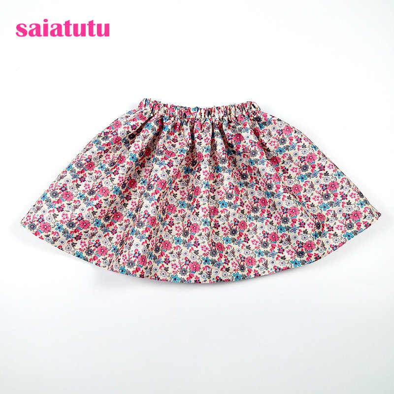b2d92363 Faldas tutú de verano con estampado de flores para niños y niñas de estilo  europeo