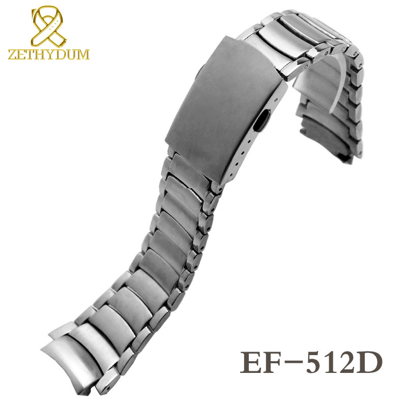 Solid Stainless Steel Bracelet For Casio EF-524 EF-530 EF-549 EF-558 EF-555 EF-512D EF-565 Watch Band Solid Metal Watchband