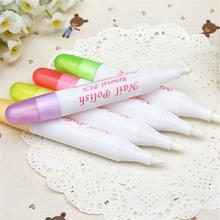 2 pcs Beauty Corrector Pen Gel Nail Polish Remover Cleaner Mistakes Varnish Nail Polish Remover Pen Color Random