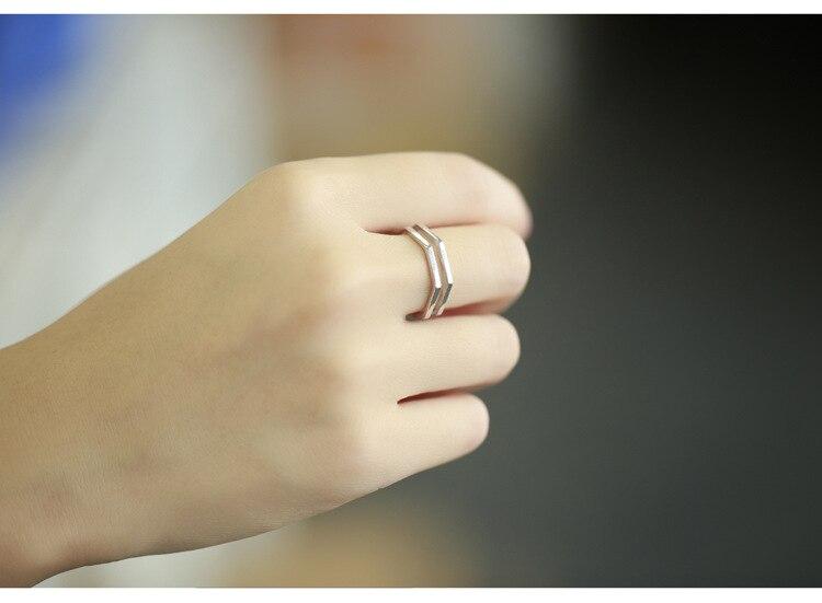 Punk Trendy Silver Color Hexagon Big Rings for Women Luxury Jewelry Adjustable Antique Rings Anillos joyas de plata 2