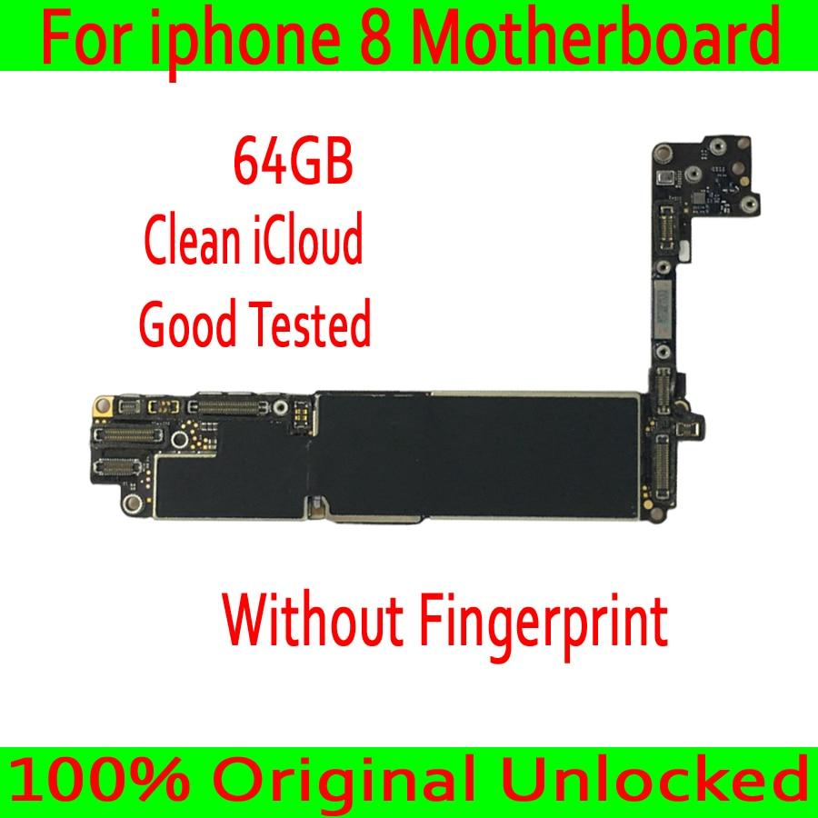 64GB dla iphone 8 4.7 cal oryginalna płyta główna bez odcisków palców, pełne chipy dla iphone 8 płyta główna czysty iCloud w Anteny do telefonów komórkowych od Telefony komórkowe i telekomunikacja na AliExpress - 11.11_Double 11Singles' Day 1